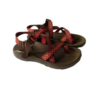 Chaco Z/2 Vibram Unasweep Sandals Red and Brown